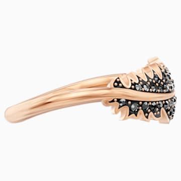 Naughty motívumos gyűrű, fekete, rózsaarany színű bevonattal - Swarovski, 5509681