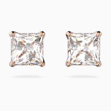 Pendientes Attract, blanco, baño tono oro rosa - Swarovski, 5509935