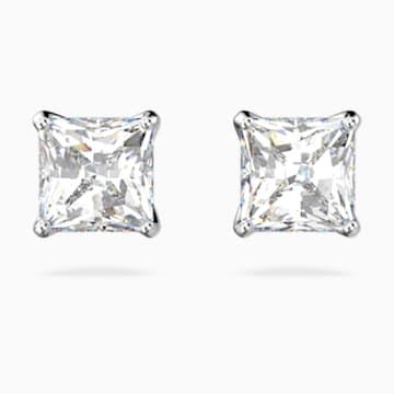 Attract Cercei cu șurub, albi, placați cu rodiu - Swarovski, 5509936