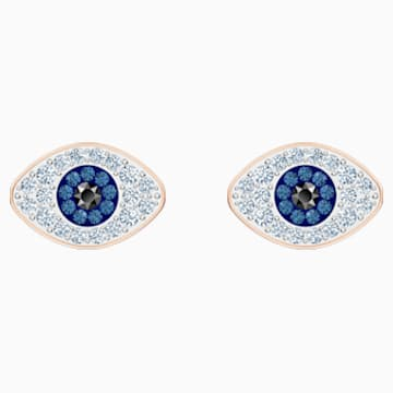 Swarovski Symbolic Stud Pierced Earrings, Blue, Rose-gold tone plated - Swarovski, 5510067