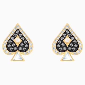 Tarot Magic Stud Pierced Earrings, Multi-colored, Gold-tone plated - Swarovski, 5510528