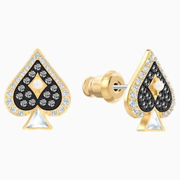 Tarot Magic Stud Pierced Earrings, Multi-coloured, Gold-tone plated - Swarovski, 5510528