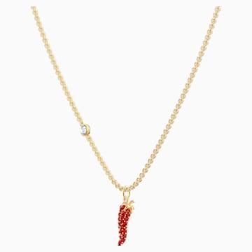 Colgante Lisabel Pepper, rojo, Baño en tono Oro - Swarovski, 5510531