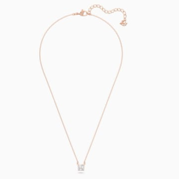 Collier Attract, blanc, Métal doré rose - Swarovski, 5510698