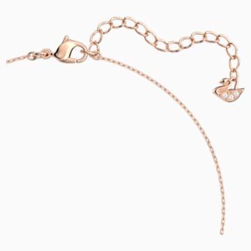 Collar Attract, blanco, Baño en tono Oro Rosa - Swarovski, 5510698