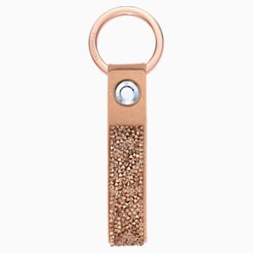Porte-clés Glam Rock, Doré rose, Métal doré rose - Swarovski, 5510797