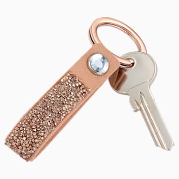 Glam Rock 钥匙扣, 粉红金色, 镀玫瑰金色调 - Swarovski, 5510797