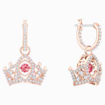 Bee A Queen 水滴形耳环, 红色, 镀玫瑰金色调 - Swarovski, 5510985