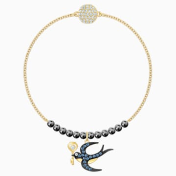 Swarovski Remix Collection Swallow Strand, Multi-coloured, Gold-tone plated - Swarovski, 5511085