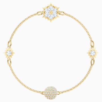 Swarovski Remix Collection Snowflake Strand, White, Gold-tone plated - Swarovski, 5511095