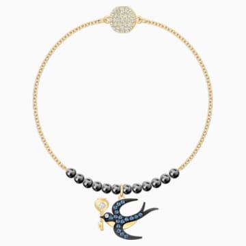 Swarovski Remix Collection Swallow Strand, Multi-coloured, Gold-tone plated - Swarovski, 5511097