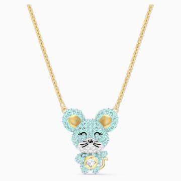 Little 项链, 海蓝色, 多种金属润饰 - Swarovski, 5511162