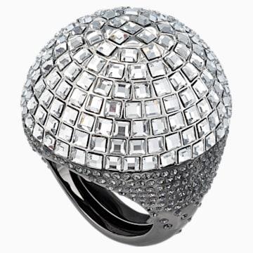 Celestial Fit koktélgyűrű, szürke, fekete ruténiummal - Swarovski, 5511384