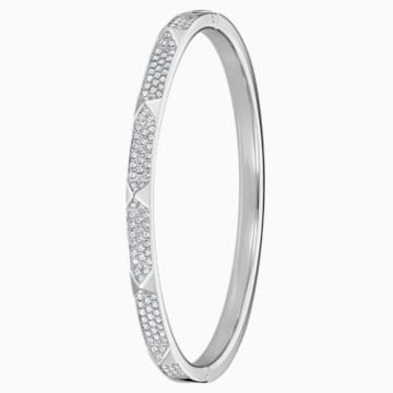 Bracelet-jonc Tactic, blanc, acier inoxydable - Swarovski, 5511390