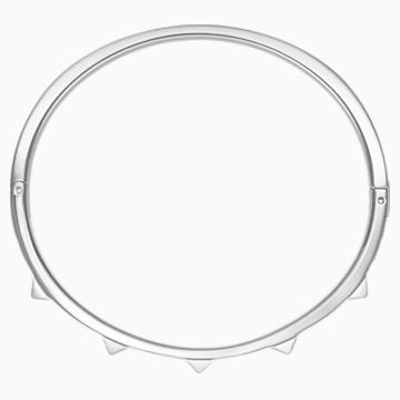 Bracelet-jonc Tactic, blanc, acier inoxydable - Swarovski, 5511391