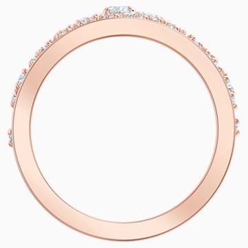 Anello con motivo Precisely, bianco, Placcato oro rosa - Swarovski, 5511396