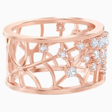 Precisely Motif Ring, White, Rose-gold tone plated - Swarovski, 5511397
