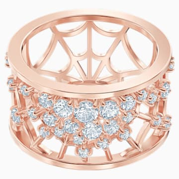 Precisely Motif Ring, White, Rose-gold tone plated - Swarovski, 5511398