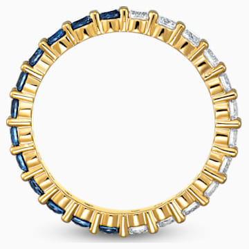 Vittore Half XL Ring, Blue, Gold-tone plated - Swarovski, 5511562
