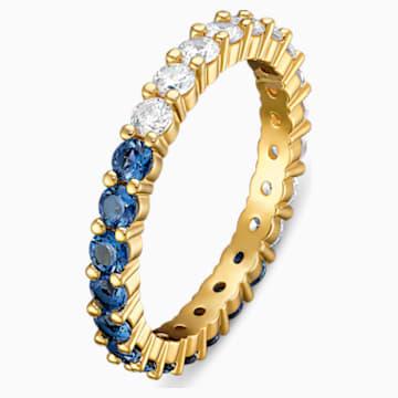 Vittore Half XL 戒指, 藍色, 鍍金色色調 - Swarovski, 5511562