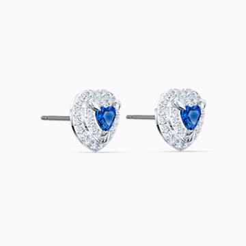 Orecchini Stud One, azzurro, placcato rodio - Swarovski, 5511685