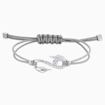 Swarovski Power Collection Hook Armband, grau, Rhodiniert - Swarovski, 5511778