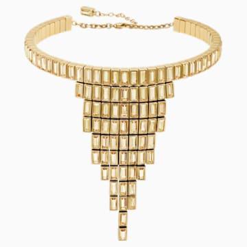 Fluid egyedülálló nyaklánc, barna, arany árnyalatú bevonattal - Swarovski, 5511939