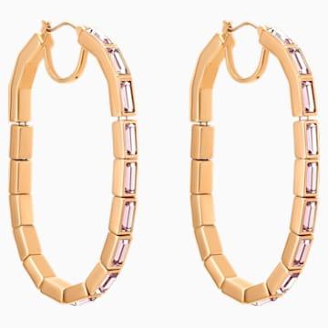 Fluid 穿孔耳環, 紫羅蘭, 鍍玫瑰金色調 - Swarovski, 5512003