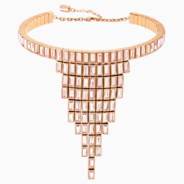Fluid 代表性项链, 紫罗兰, 镀玫瑰金色调 - Swarovski, 5512004