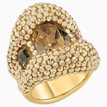 Tigris Cocktail 戒指, 金色, 鍍金色色調 - Swarovski, 5512347