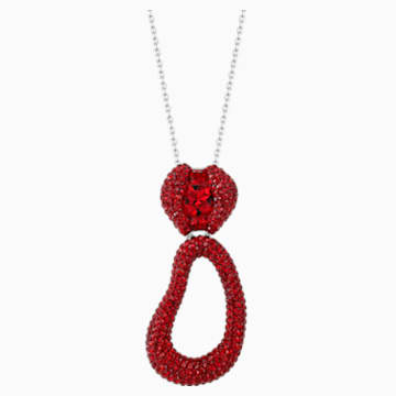 Tigris Pendant, Red, Palladium plated - Swarovski, 5512350