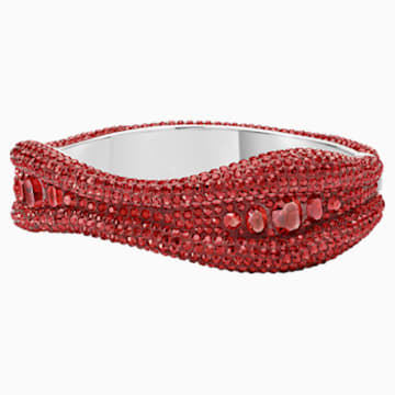 Tigris Bangle, Red, Palladium plated - Swarovski, 5512351