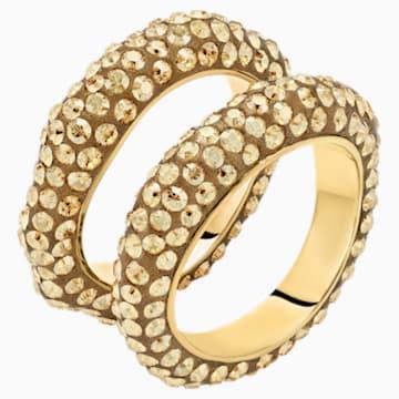 Tigris Ring Set, Gold tone, Gold-tone plated - Swarovski, 5512359