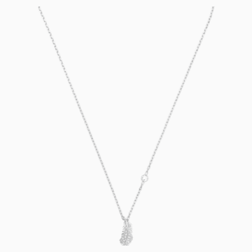 Naughty Necklace, White, Rhodium plated - Swarovski, 5512365