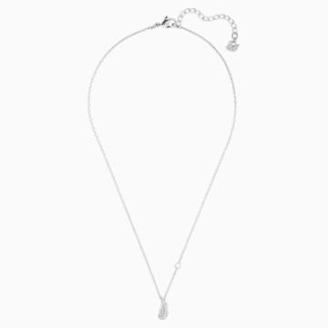Naughty 項鏈, 白色, 鍍銠 - Swarovski, 5512365