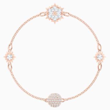 Σειρά Snowflake από τη Swarovski Remix Collection, λευκή, επιχρυσωμένη με ροζ χρυσό - Swarovski, 5512377