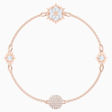 Swarovski Remix Collection Snowflake Strand, blanc, Métal doré rose - Swarovski, 5512377