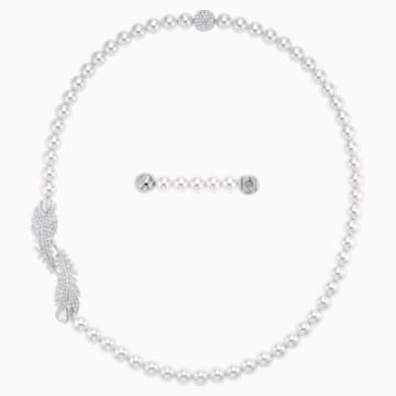 Nice szett, fehér, ródium bevonattal - Swarovski, 5512380