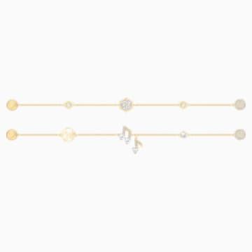 Swarovski Remix Collection Strand Set, blanc, Métal doré - Swarovski, 5512383