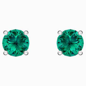 Attract İğneli Küpe, Yeşil, Rodyum kaplama - Swarovski, 5512384