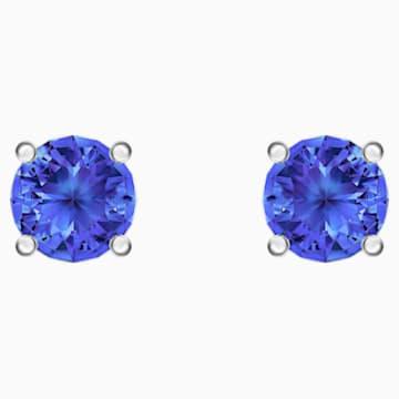 Orecchini Stud Attract, azzurro, Placcatura rodio - Swarovski, 5512385