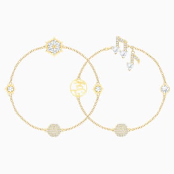 Swarovski Remix Collection Strand Set, blanc, Métal doré - Swarovski, 5512434