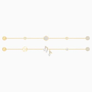Swarovski Remix Collection Strand Set, blanc, Métal doré - Swarovski, 5512435