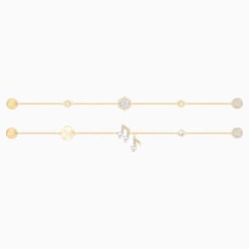 Swarovski Remix Collection Strand Set, White, Gold-tone plated - Swarovski, 5512435