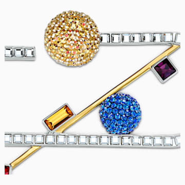 Spectacular Brooch, Dark multi-coloured, Mixed metal finish - Swarovski, 5512465