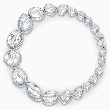 Spectrum Shine Necklace, White, Rhodium plated - Swarovski, 5512467
