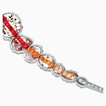Spectrum Shine Brosche, rot, rhodiniert - Swarovski, 5512471