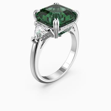 Koktejlový prsten Attract, Zelený, Rhodiem pokovený - Swarovski, 5512574