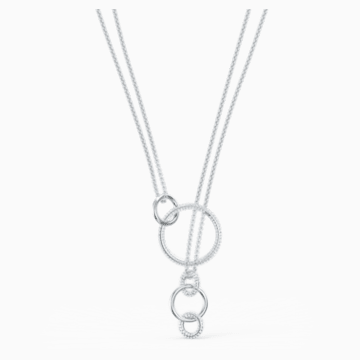 Collier Stone, blanc, métal rhodié - Swarovski, 5512604