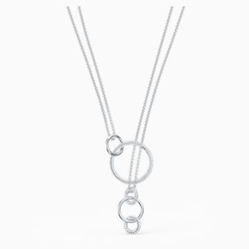 Stone Halskette, weiss, rhodiniert - Swarovski, 5512604
